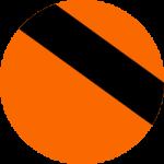 Orange shirt and black print